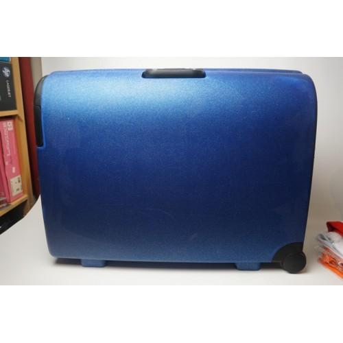 Carlton koffer blauw metalic, cijferslot, 75x60x25 cm