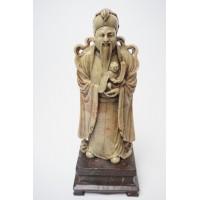 Chinees soapstone handgesneden Immortal God Beeld