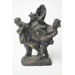 W. Put of W. Pat Bronzen beeld, vrolijke beeltenis van een fanfare