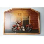 Harley Davidson wandbord, Harley's Bar mooi groot