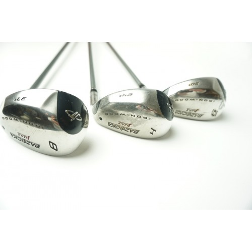 3 x Tour Edge Bazooka 4, 6 en 8 JMax Iron-Wood Reactive Flex
