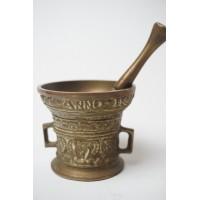 Bronzen vijzel - Anno 1590, Leefte Verwint Al Dinck