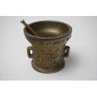 Bronzen vijzel - Anno 1590, Leefte Verwint Al Dinck no2