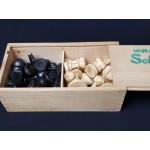 DeLuxe houten schaakstukken Homas Staunton