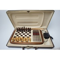 Fidelity Chess challenger CCX schaakcomputer deels hout, in koffer