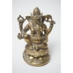 Ganesha Olifant God van Rijkdom, China / Tibetaans Zilver Brons