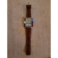 Geneva xxl horloge met 2 tijden volgens mij stopwatch en zo