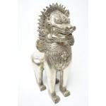 Grote Foo Dog, Shinga Lion, China / Tibetaans Zilver Brons