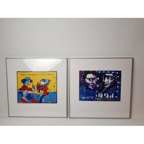 Herman Brood prints 2 stuks van ikea