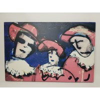 Herman brood print nr 7, 3 musketiers met rose tint