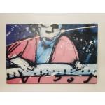 Herman brood print nr 8, pianoman met rose tint