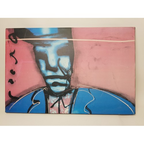 Herman brood print nr 9, Little Richard met rose tint