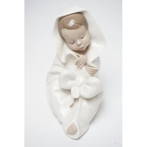 Lladro Nao beeldje baby gewikkeld in deken