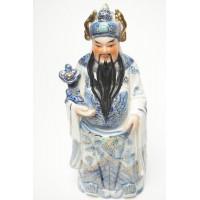 Porselein immortal god beeld, blauw beeld 1