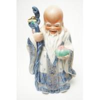 Porselein immortal god beeld, blauw beeld 2
