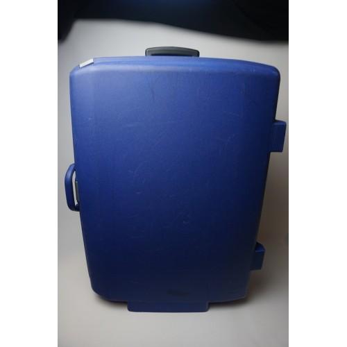 Samsonite trolly koffer licht blauw, cijferslot handgreep