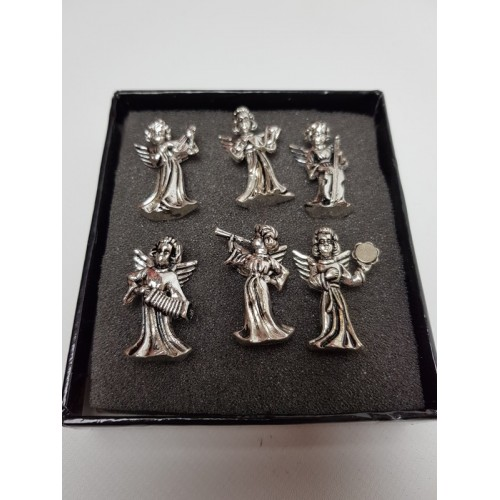 Setje engelen voor kaars decoratie