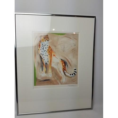 Sylivia Takken zeefdruk jacht luipaard