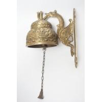 Vintage kloosterbel van brons of koper
