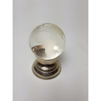 Wereld Globe van glas op metalen standaard