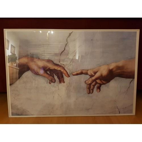 Michelangelo touch of gods poster in lijst. Michel Angelo