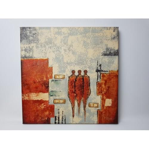 Schilderij van lenuta bazu Olieverf op canvas