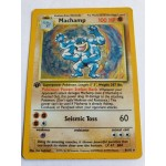 Machamp - 8 / 102 - Holo 1st Edition (with Shadow)