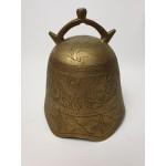 Chinese of japanse koper of brons tempelbel met draak