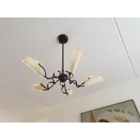 Kenwell Trading Hanglamp. Met kelkjes van glas