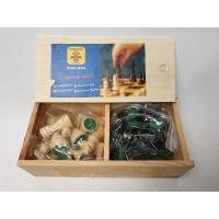 Longfield schaakset houten schaakstukken Staunton