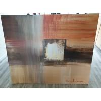 Marjan Kolmeijer acryl schilderij, oranje keet?