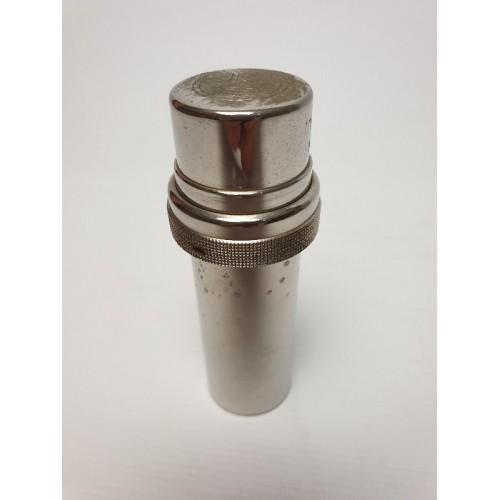 Medisch; Metalen koker met injectiespuit + naalden
