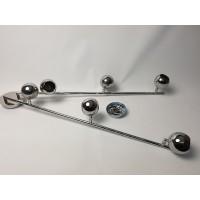 Plafondlamp vintage look, chroom 6 spots