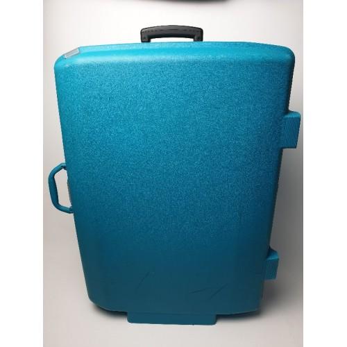 Samsonite trolly koffer groen - blauw, cijferslot handgreep