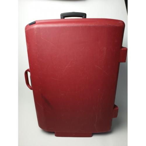Samsonite trolly koffer rood, cijferslot handgreep