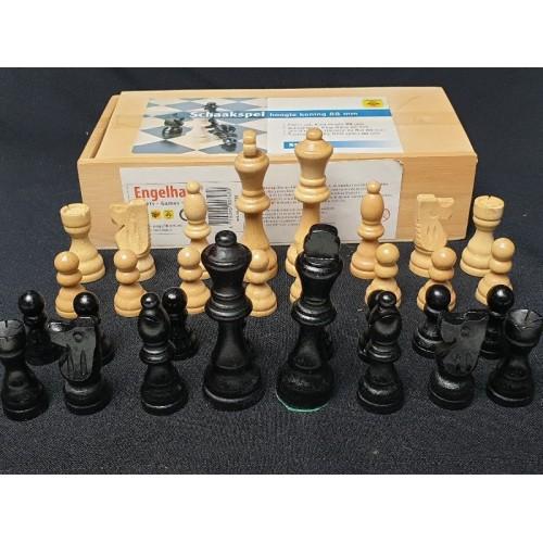 Staunton schaakset koninghoogte 88mm schaakstukken