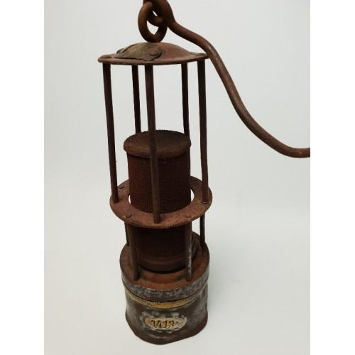 Wilhelm Seippel antieke mijnwerkerslamp. Origineel. ca 1910