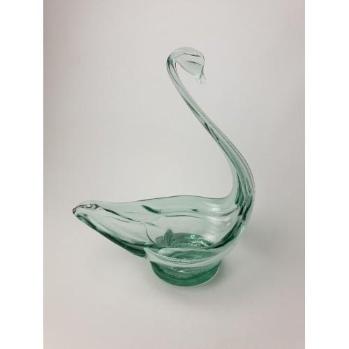 Glazen zwaan schaal, ik denk Murano