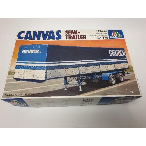 Italeri Gruber no 774 canvas semi trailer 1:24 bouwpakket