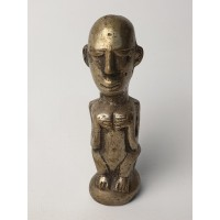 Maya - Inca beeldje zilver of verzilverd, beeltenis vrouw