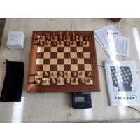 Saitek President schaakcomputer, hout met display, Kasparov