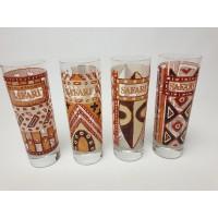 Set van 4 safari liqueur glazen
