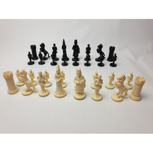 Ajedrez Fantasia kunststof schaakset. Koning hoogte 8.5 cm