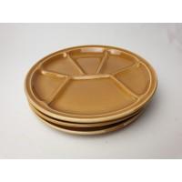 Gien fondue borden kleur licht bruin 3 stuks