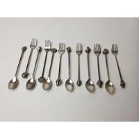 Limited Edition Zilveren Shell vorkjes en lepels