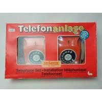 Prefo Telefonanlage. Vintage draaischijf kinder telefoon set