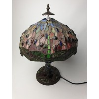 Tiffany dragonfly vlinder tafellamp. Antiek. tafel lamp