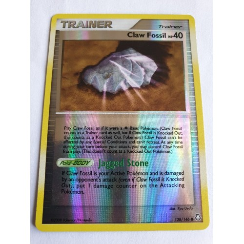 Claw Fossil - 138 / 146 - Common Reverse Holo