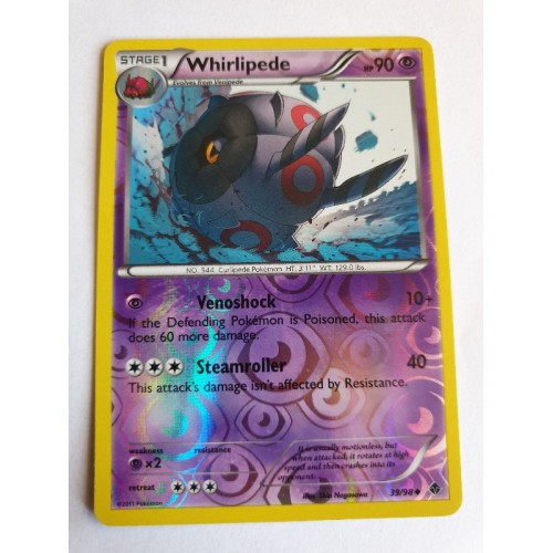Whirlipede - 39 / 98 - Uncommon Reverse Holo
