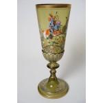 Antiek glazen Pokal Theresienthal Enameled Knights ca.1900